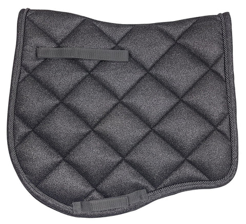 Elegant Dressage Saddlecloth Black Glitter