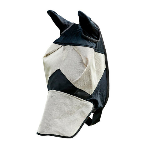 Horze Long Nose Fly Mask Hood Light Brown & Black