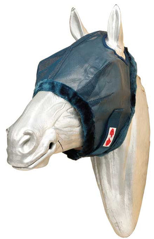 Fly Mask with Fleece Trim Navy