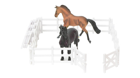 collecta two horse with fence