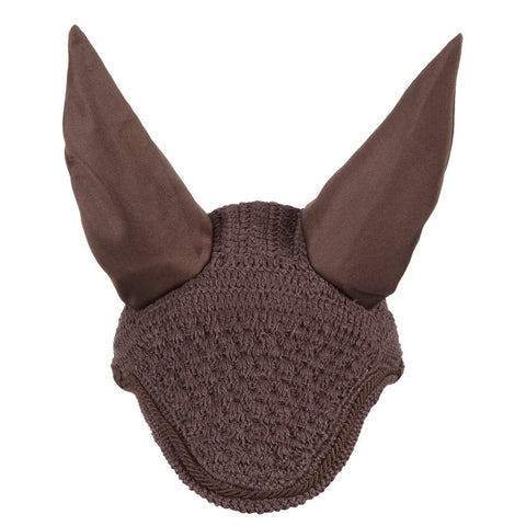 LeMieux Vogue Braided Fly Hood Brown & Brown