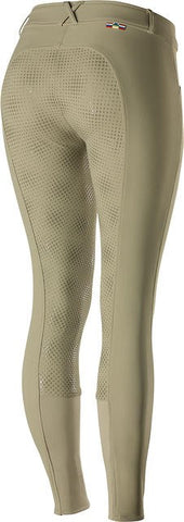Horze Grand Prix Silicone Ladies Breeches Light Brown