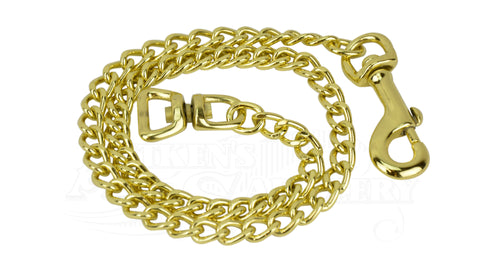 Lead Chain Fine Brass Plated