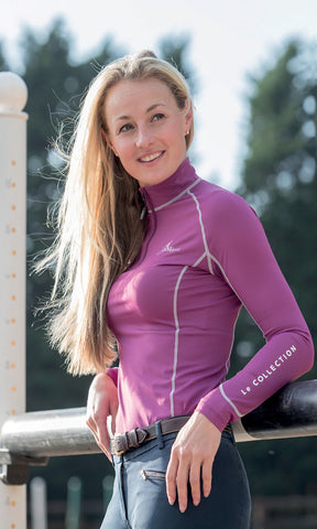My LeMieux Base Layer Ladies Top Plum