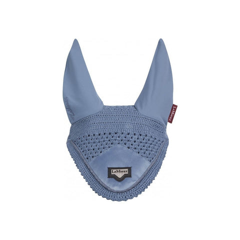 LeMieux Loire Satin Fly Hood Ice Blue