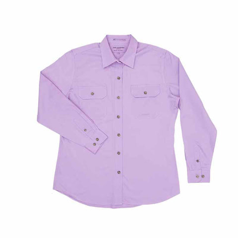 JCA Brooke Workshirt Ladies Orchid Purple