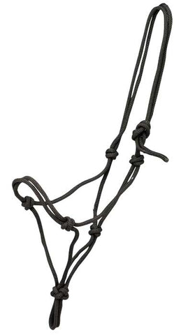 Knotted Rope Economy Halter Black
