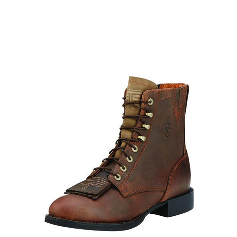 Ariat Heritage Lacer Ladies Distressed Brown Boots