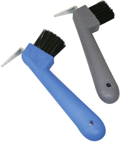Hoof Pick with Brush- Metal