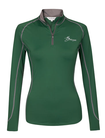 My LeMieux Base Layer Ladies Top Hunter Green