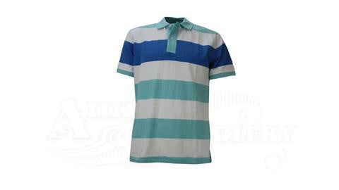 RM Williams Rod Polo Blue White Stripe