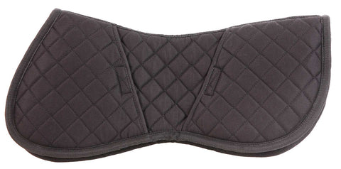 Quilted Half Pad with Insert Black