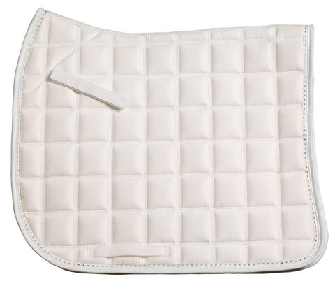 Diamonte Trim Dressage Pad White