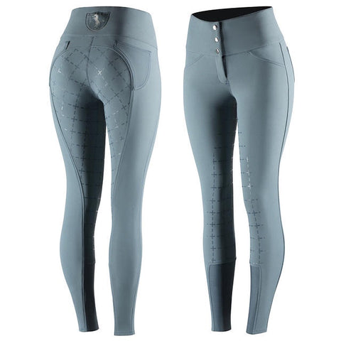 Horze Desiree Ladies Breeches Mirage Blue