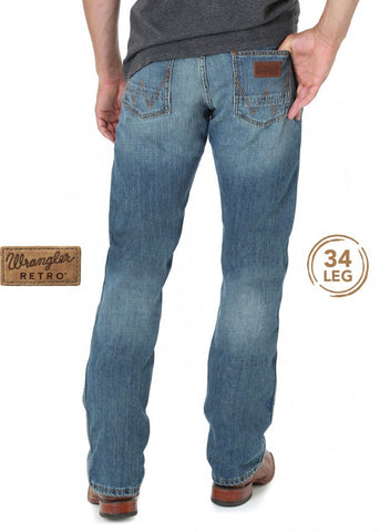 Wrangler Retro Slim Straight Leg Mens Jeans