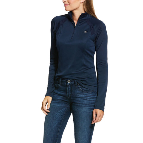 Ariat Ladies 1/4 Zip 2.00 Sunstopper Navy