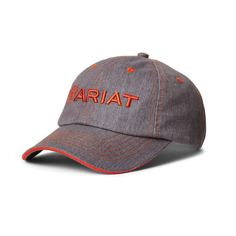 Ariat Uni Team II Cap Heather Grey & Red Clay