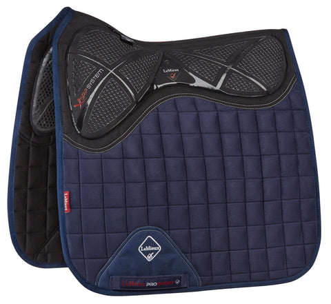 LeMieux X Grip Twin Side Dressage Pad Navy