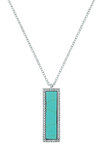 Montana Turquoise Bar Necklace