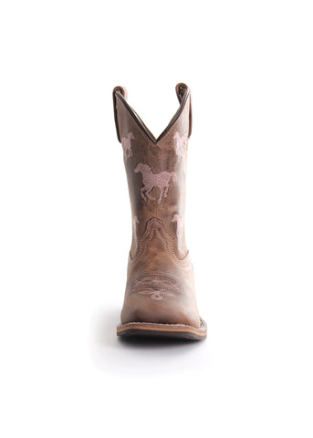 Pure Western Selina Kids Boots Brown