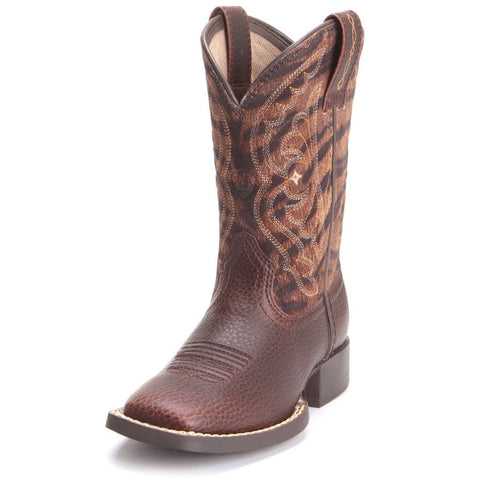 Ariat Kids Quickdraw Boots Pebble Pine & Tiger Print