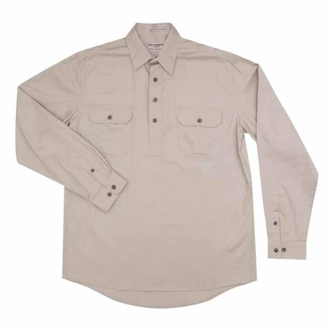 JCA Cameron Mens Workshirt Stone