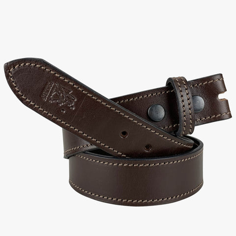 Porter Solid Hide Belt No Buckle Brown