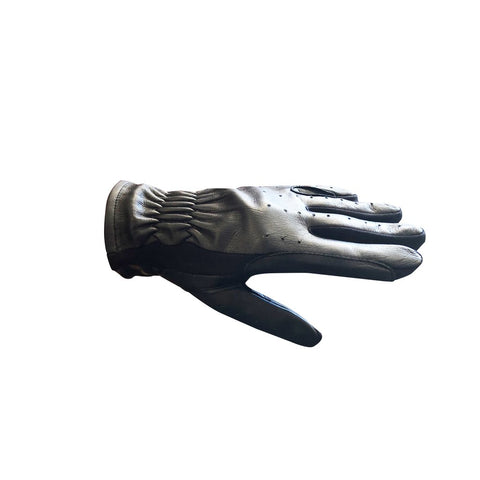 Leather & Spandex Gloves Black