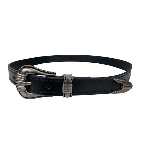 Porter Dress Belt Black with Gun Metal Buckle