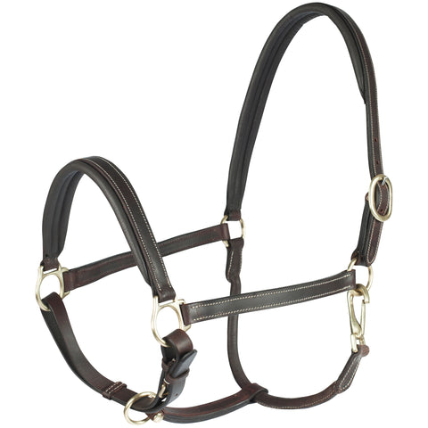 Horze Largo Leather Halter Brown