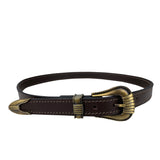 Porters Dress Belt Brown with Antique Buckle