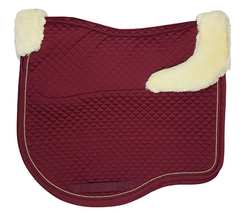 Estate Fleece Dressage Saddlecloth Claret