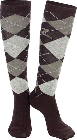 Horze Holly Knee Socks Dark Brown