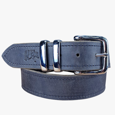 Porter Leather Belt Distressed Black