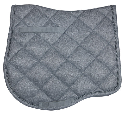 Elegant Dressage Saddlecloth Black Steel Grey