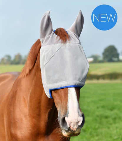 Equilibrium Fly Mask Midi with Ears Grey