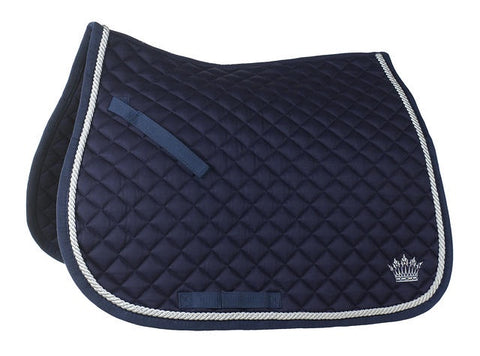 Horze Allround Silver Cord Pad Navy