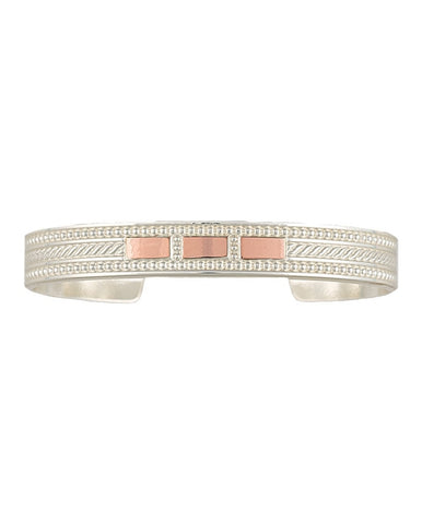 Montana Bright Crosscut Threaded Ribbon Cuff