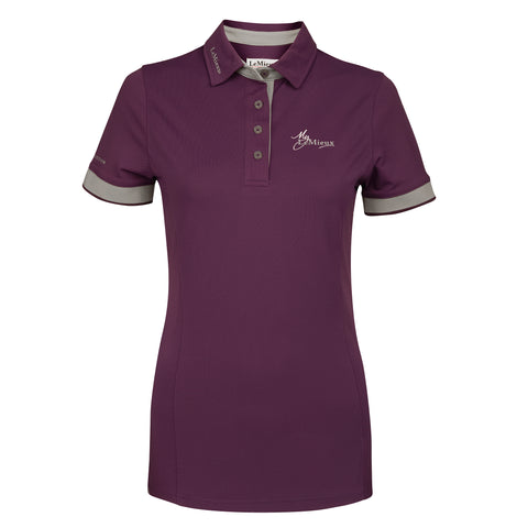 My LeMieux Ladies Polo Shirt Plum