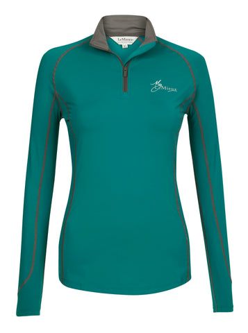 My LeMieux  Base Layer Ladies Top Peacock