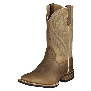 Ariat quick draw tumbled brown mens boot
