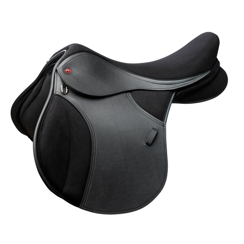 Thorowgood T4 All Purpose Pony Long Leg Saddle Black