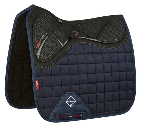 LeMieux X Grip Dressage Square Pad Navy