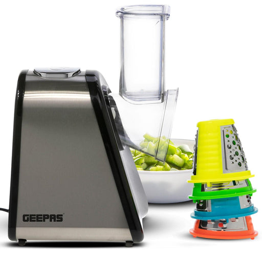 Electric Vegetable Spiralizer | 200W | 4 in 1 Set Geepas | For you. For life.