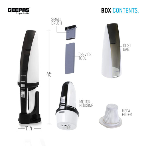 Handheld Vacuum Cleaner | Rechargeable | Compact Geepas | For you. For life.