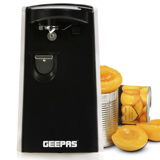 Electric Can Opener, Bottle Opener and Knife Sharpener Geepas | For you. For life.
