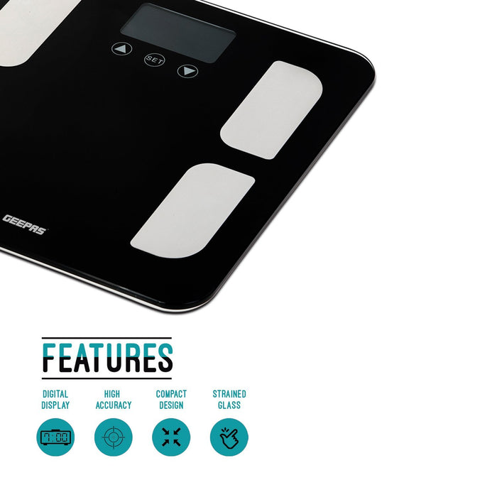 Body Fat Bathroom Scales Scales Geepas | For you. For life.