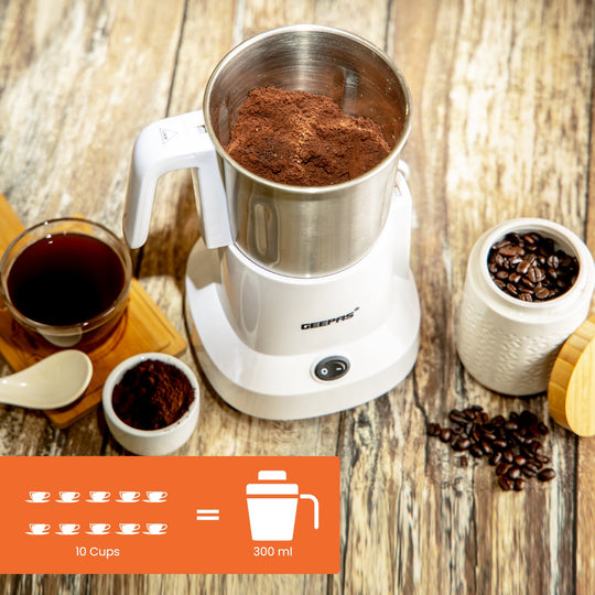 Geepas Electric Coffee Grinder Machine Milling Bean Nut & Masala Spice Grinding