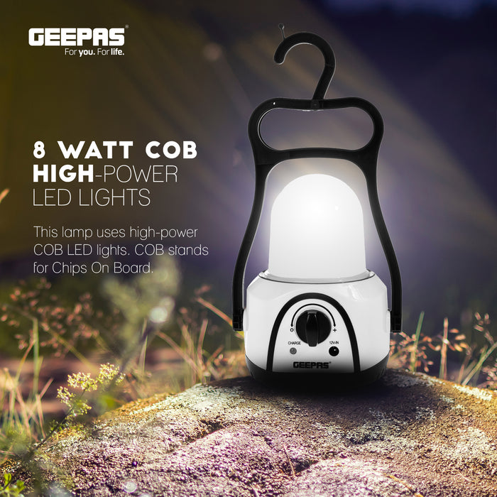 8W Rechargeable Emergency Lantern | COB Mega Luminous LEDs Geepas | For you. For life.