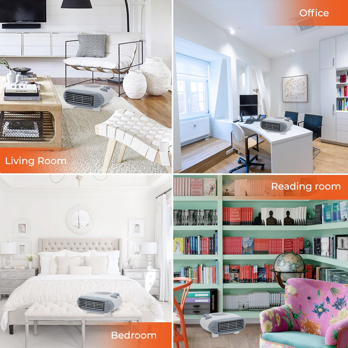 Portable Flat Fan Heater Heaters Geepas | For you. For life.